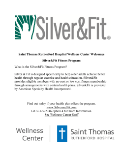 What is the Silver and Fit Fitness Program