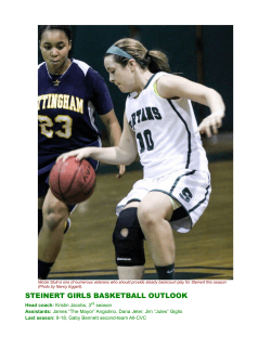 STEINERT GIRLS BASKETBALL OUTLOOK - Hamilton Sports