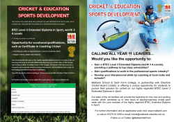 Cricket & Education Sports Development
