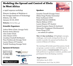 Modeling the Spread and Control of Ebola in West Africa