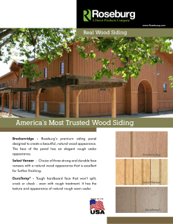 America's Most Trusted Wood Siding