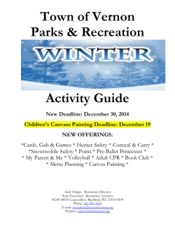 2014 winter activity guide