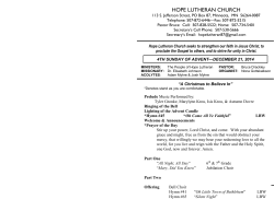 Bulletin - Hope Lutheran Church
