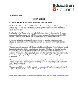 MEDIA RELEASE - Education Council