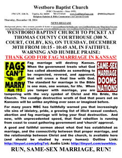 wbc to picket kansas same-sex marriage in colby, ks on tuesday, 12