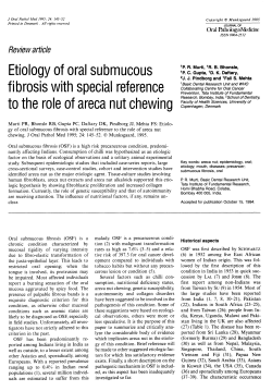 Etiology of oral submucous fibrosis with special