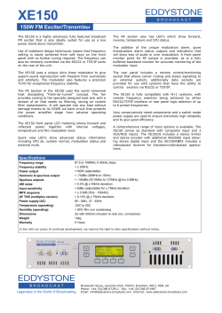 Data Sheet - Eddystone Broadcast Limited