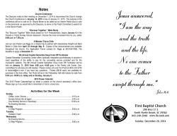 to see this Sunday's Bulletin - First Baptist Church North Myrtle Beach