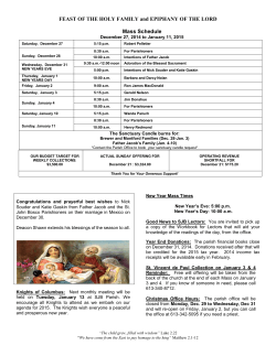 this week's bulletin - St. John Bosco Parish