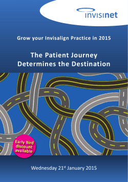 The Patient Journey Determines the Destination