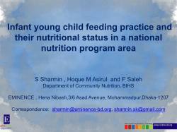 Infant young child feeding practice and their nutritional status in a