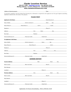 submit your application - Clarke Location Service LLC