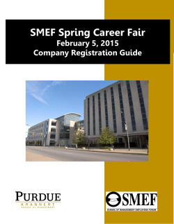 Company Registration Guide - Krannert School of Management