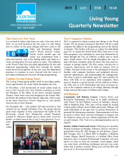 Living Young Quarterly Newsletter