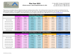 2015 RHIPA Rates - PERS Health Insurance Program