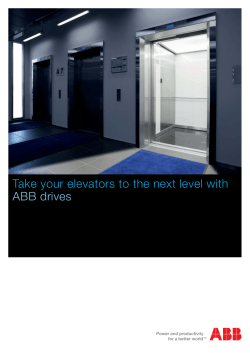 Take your elevators to the next level with ABB drives