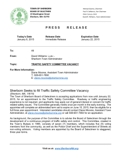 Traffic Safety Committee Vacancy