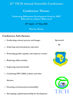 12th TICH Annual Scientific Conference Conference