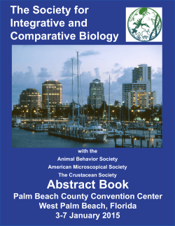 Abstract Book - Society for Integrative and Comparative Biology