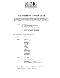 2015 Monthly Breastfeeding Support Group