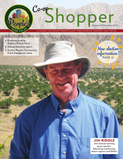January–February 2015 Newsletter - People's Food Co-op