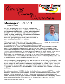 Jan. Newsletter - Cuming County Public Power District