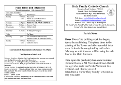 Bulletin with Full Weekly Mass List