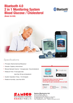 Bluetooth 4.0 2 in 1 Monitoring System Blood Glucose / Cholesterol