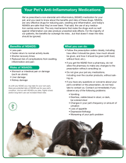 NSAID Safety - Walker Animal Hospital