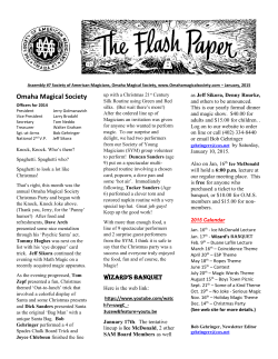 The FlashPaper - Omaha Magical Society
