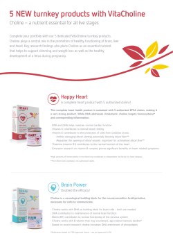 5 NEW turnkey products with VitaCholine