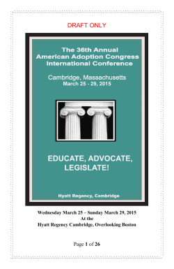 DRAFT ONLY - American Adoption Congress