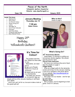 Latest Newsletter - Yellowknife Quilters Guild
