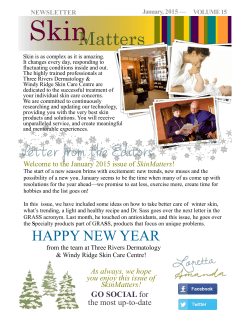 January 2015 - Three Rivers Dermatology & Windy Ridge
