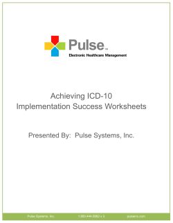 Achieving ICD-10 Implementation Success Worksheets
