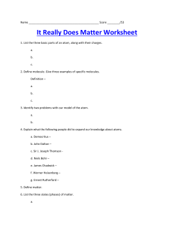 It Really Does Matter Worksheet