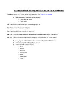 GradPoint World History Global Issues Analysis Worksheet