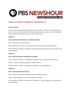 Worksheet 2.3_A - PBS NewsHour Student Reporting