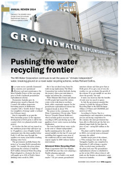 'Pushing the water recycling frontier'