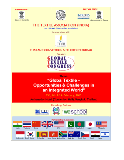 """Global Textile – Opportunities & Challenges in an Integrated World"""