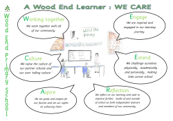 Working together Reflection Culture Aspire Engage Extend