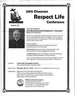 Diocese of Columbus - Greater Columbus Right to Life