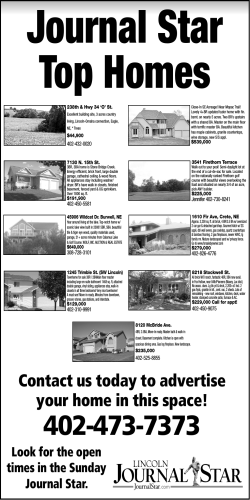 Contact us today to advertise your home in this