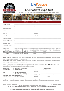 Stall Booking Form