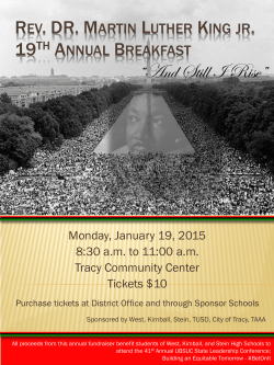 Rev. DR. Martin Luther King jr. 19th Annual Breakfast