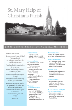 Current Week's Bulletin - St. Mary Help of Christians Parish