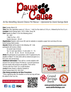 Paws for a Cause Flyer and Form