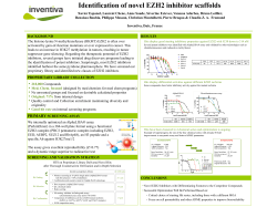 Identification of novel EZH2 inhibitor scaffolds