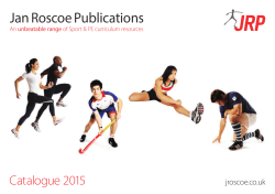 PE Revision Guides - Jan Roscoe Publications