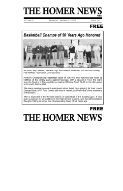THE HOMER NEWS THE HOMER NEWS